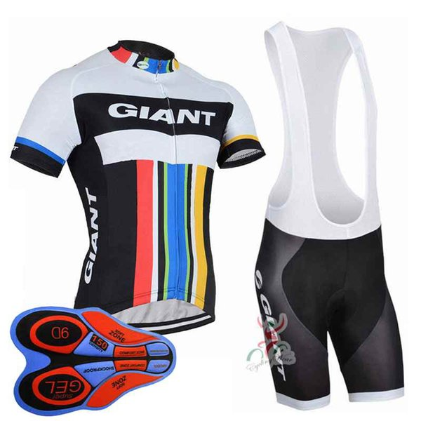 2018 Giant New Cycling Jerseys bib shorts set Bicycle Breathable sportswear Bike clothes Lycra summer MTB Bicycle Clothing 10419J