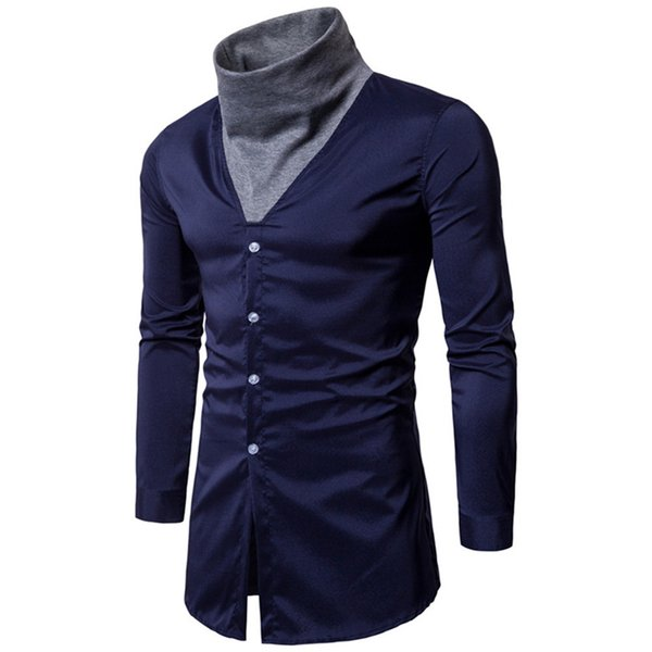 Novelty 2018 Men Shirt Casual New Arrival Dinner Blouse Top Fitness Hot Sale Design Blusa Male Punk Rock Clothing Cool Shirts