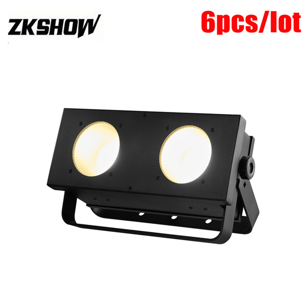 80% Off 2*100W RGB COB LED Matrix Blinder Light DJ Disco Party Wedding Audience Porojector 80W TV Show Stage Lighting 230V Free Shipping