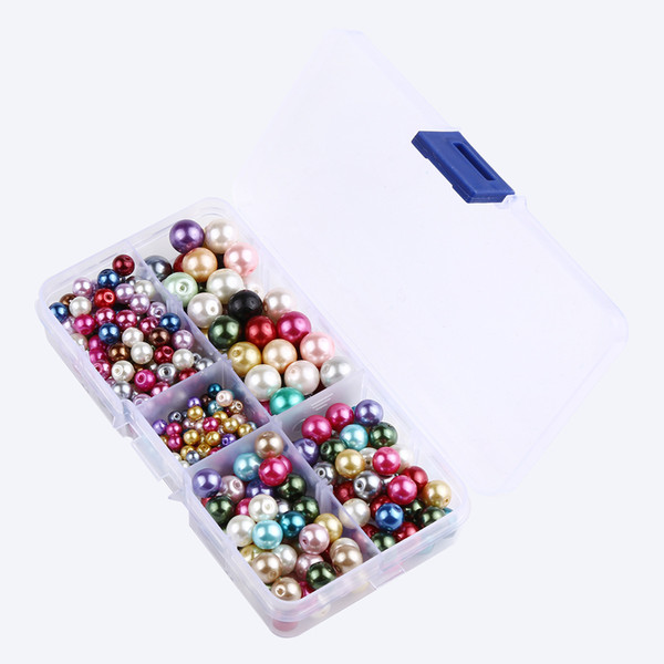 Mixed Colors 4-10mm Round Shape Imitation Glass Pearl Beads For Jewelry Making DIY Earrings Bracelet Bead Necklace G191L