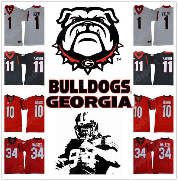 Rose bowl 2018 Play off Georgia Bulldogs NCAA Jersey #1 Justin Fields 11 Jake Fromm 34 Herschel Walker 19 sports 10 Malik Herring