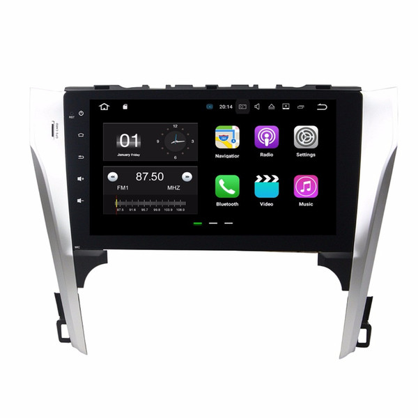 "1024*600 Android 7.1 Quad Core 10.1"" Car DVD Car Radio GPS Head Unit for Toyota Camry 2012 2013 With 2GB RAM Bluetooth WIFI Mirror-link"