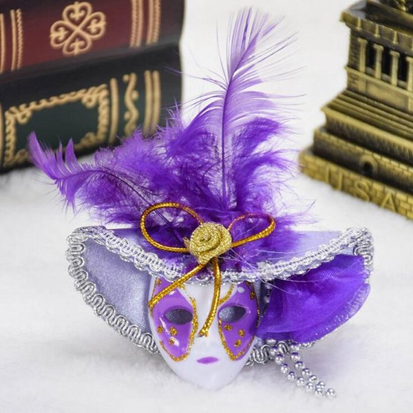 Mini Venedig Zylinder Feder Maske Kühlschrankmagnet Tisch Ornamente Wandaufkleber Handwerk Parteibevorzugung Weihnachten Navidad Neues Jahr