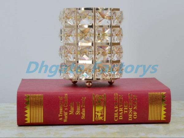European Votive Candle Holders Gold Silver K9 Crystal Candlestick Glass Lantern Wedding Table Centerpieces Home Decoration