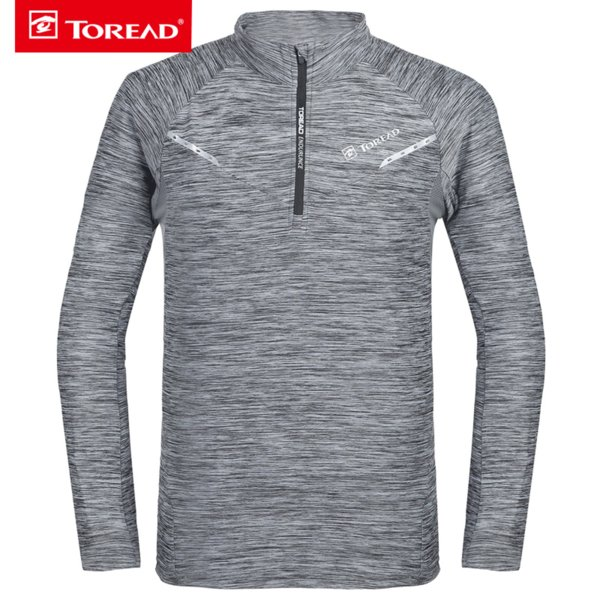 TOREAD Sport Shirt TREKKING Spring/fall Men's Breathable T-shirt Comfortable Long Sleeved for Hiking Camping Climbing KAJF81625