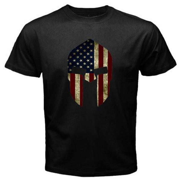 New American Spartan Logo 300 Movie Men/'s Black T-Shirt Size S to 3XL