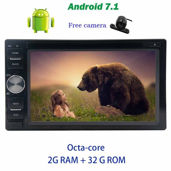 Rear view camera+Double Din Car Stereo Eincar Android 7.1 GPS Nav Octa-core Car dvd Player Auto Radio car PC DAB+,Digital TV