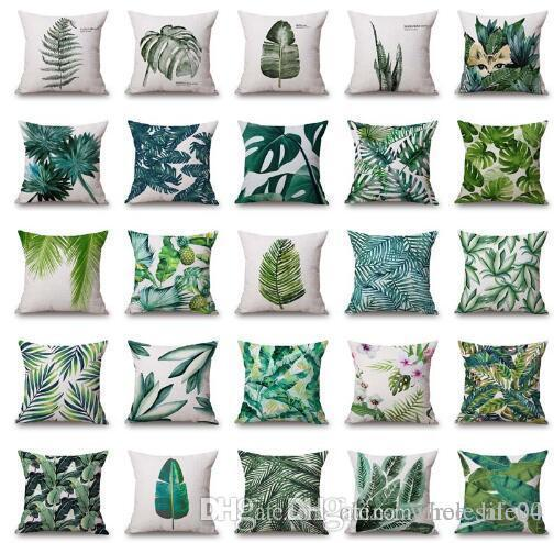 Fabulous Plant Cushion Cover Tropic Tree Green Throw Pillow Case Palm Leaf Decorative Pillows Flower Cushion Cover For Sofa Car Home Buy Duvet Cover Nautical Ocoug Best Dining Table And Chair Ideas Images Ocougorg