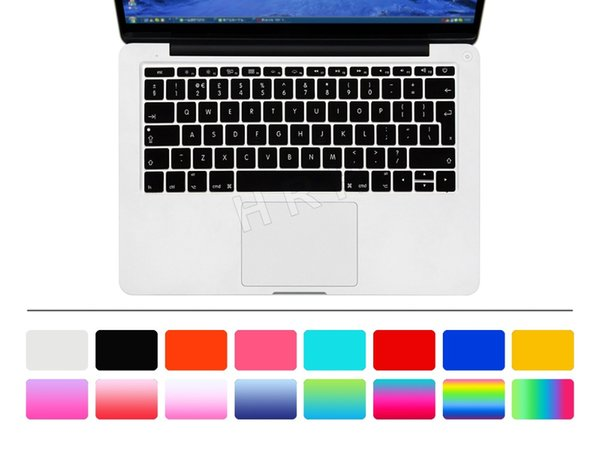 Euro version English language letter Silicone keyboard cover For macbook air 12 inch A1534 Protector Sticker 12''