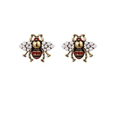 красная пчелиная серьга