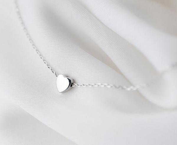 "Women's Gift Real. 925 Sterling Silver Jewelry Heart Love Pendants Necklace Rolo Chain 16""-18"" GTLX1414 Y1892806"