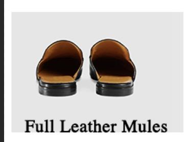 Mulas de chinelos de couro