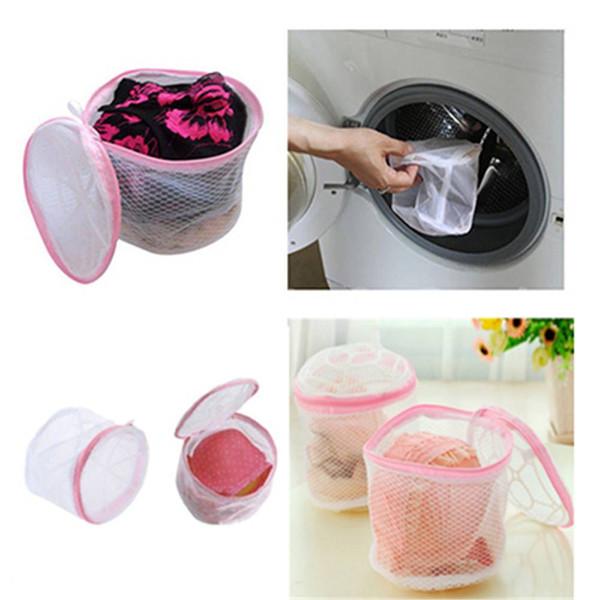 Mujeres Hosiery Sujetador Ropa interior limpia Bolsa de lavado Ropa interior Lavado Protección Malla lavadora práctica Ayuda Lavandería Bolsa de almacenamiento