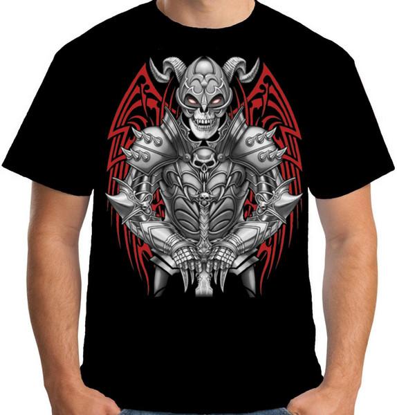 Velocitee Mens Dead Knight Camiseta Morte Gótico Horror Crânio Ceifeira Verão A Nova Moda Para Manga Curta