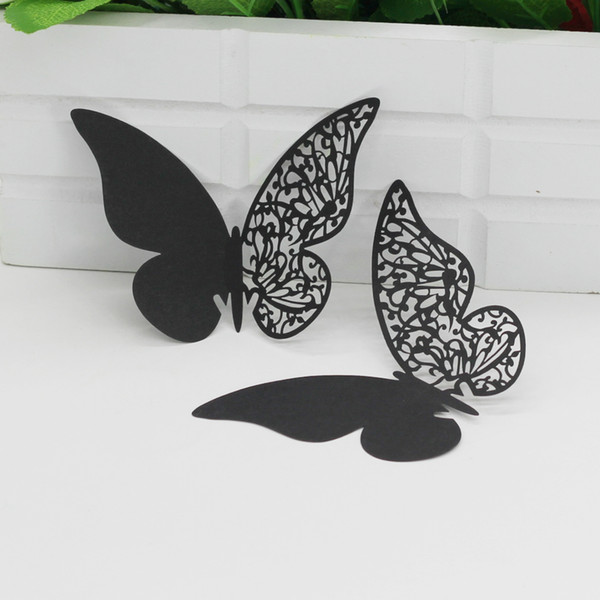 Butterfly Seating Cards Laser Cut Hollow Paper Name Card For Party Wedding Place Cards Wedding Table Decorations PC1008