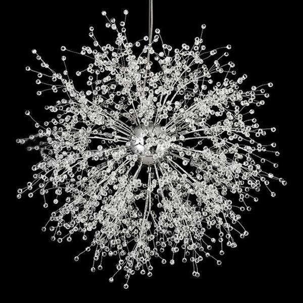 Moderne Feuerwerk Kronleuchter Beleuchtung Kristall Pendelleuchte Dandelion Hängelampe für Schlafzimmer Küche Esszimmer Innenbeleuchtung Fixture