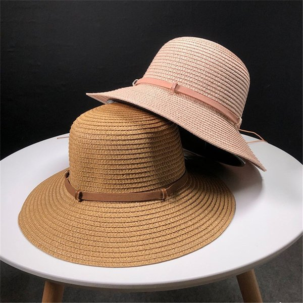 Womens Floppy Summer Sun Beach Straw Hat UPF50 Foldable Wide Brim beach hats fashion summer hats for women