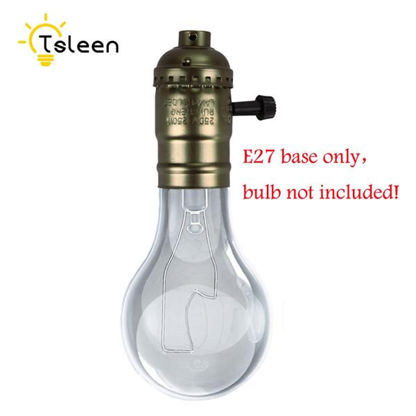 Support à lampe rétro Vintage avec support de lampe E27 Vintage Edison Light Holder Lampe à visser Gloden / Sliver / Noir / Bronze avec interrupteur CA 100 ~ 240V