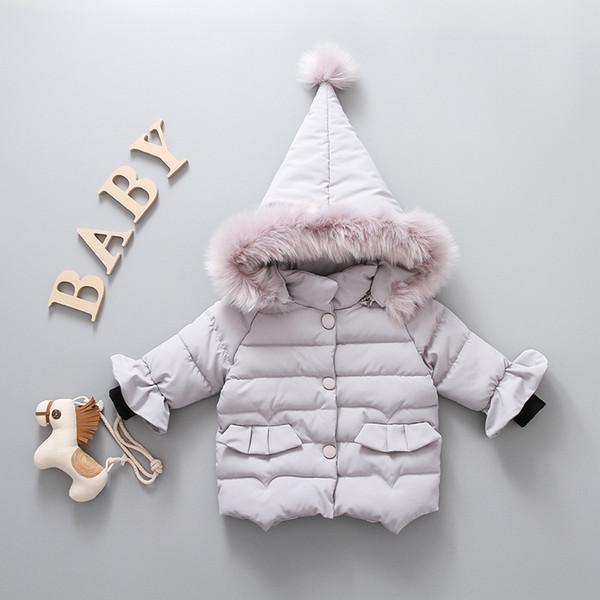Cute neonato ragazze Outwear Cappotti Giacche invernali in cotone con cappuccio bambini imbottiti vestiti imbottiti spessi
