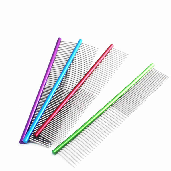 19cm Pet Comb Stainless Steel Dog Straight Combs Pet Hair Removal for Cats Puppy Dog Grooming Tool Anti Static Comb Pet Products
