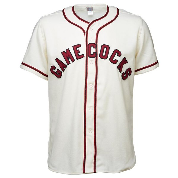 USC University of South Carolina Gamecocks 1967 Home Jersey Double Stiched Baseball Jersey For Men Women Youth Customizable