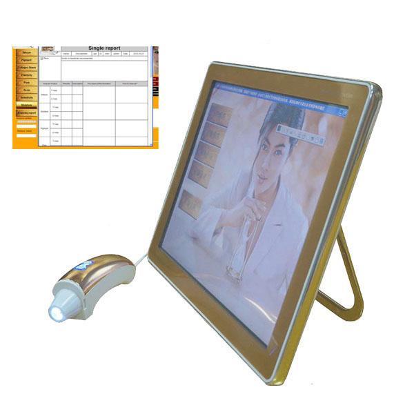 Détecteur d'humidité de peau de machine numérique d'analyseur de peau de visage avec l'écran tactile pour l'utilisation de station thermale de salon de beauté de système de diagnostic