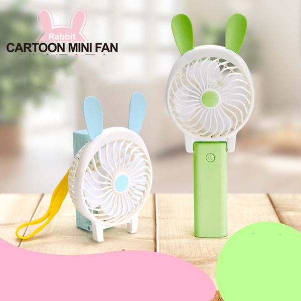 Portable fan de bande dessinée pliant ordinateur de poche mini ventilateur USB puissance ventilateur portable bureau climatiseur rechargeable