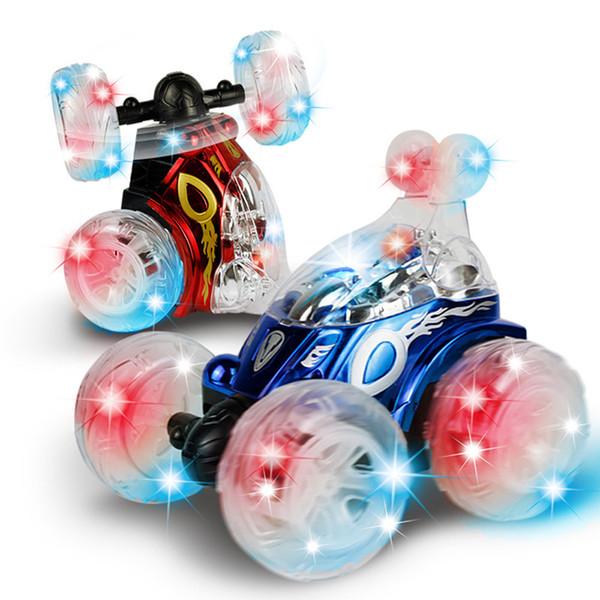 Auto RC 360 che gira e gira con FlashMusic a colori per bambini Telecomando Camion Doppi motori Azionamento Illuminazione a LED Natale Capodanno