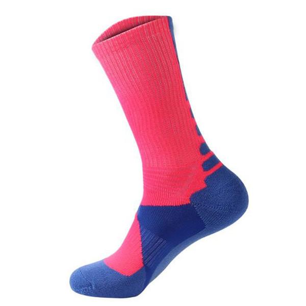 New 7 Colors Professional Basketball Socks Men Compression Long Tube Sock Outdoor Sport Towel Socks Athletic Sport Running Socks