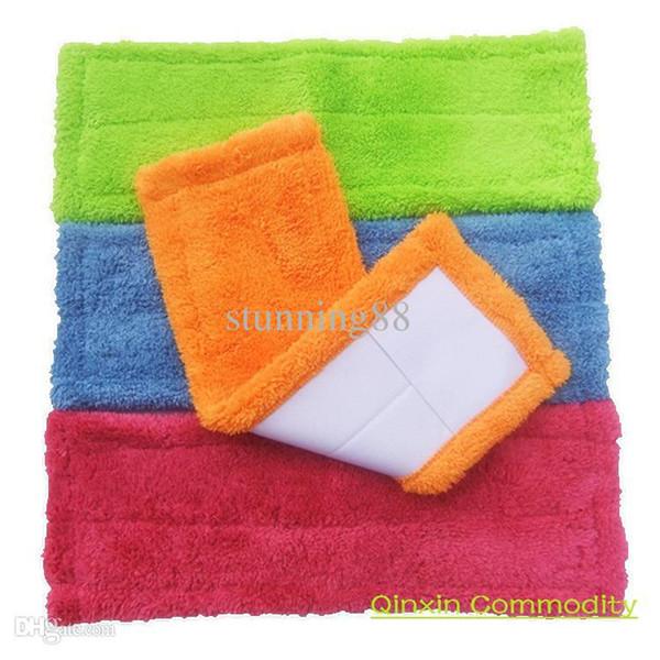 Wholesale-3 pieces/lot Original mop cloth flat mop head replacement cotton velvet neadend clean wool floor clean Free Shipping