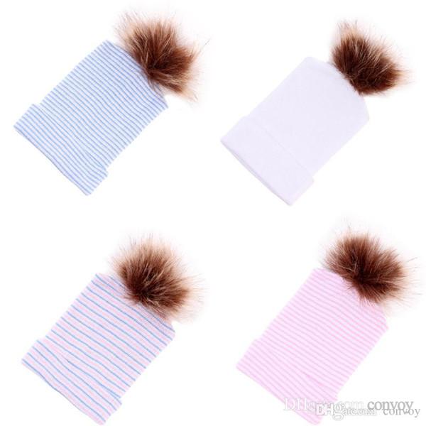 Compre Baby Crochet Hats Cute Baby Girl Soft Tejer Sombreros De ...