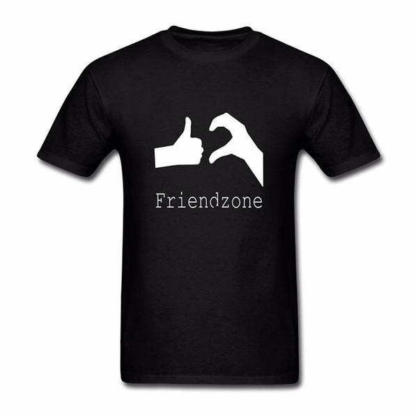Tshirt Adam Giysileri% 100% Pamuk Kısa Kollu Tshirt erkek Inter Meme Friendzone Erkekler Rahat Kısa Kollu T-shirt Tops