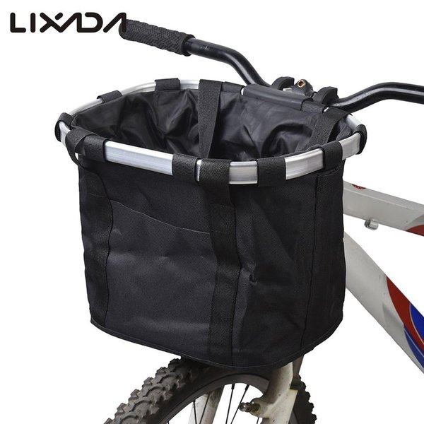 Bicycle Basket High Quality Bicycle Aluminum Alloy Frame Pet Carrier Bike Detachable Cycle Front Carrier Bag Pet