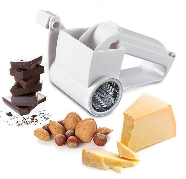 Käse Rotary Grate Handkurbel Drum Blades Käsemesser Butter Cutter Nuts Chocolate Slicer Obst Gemüse Reibe Küche Werkzeuge YW1085