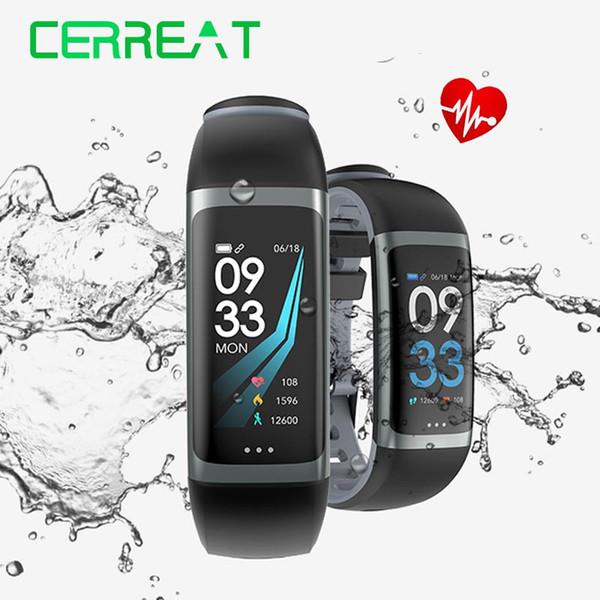 Cerreat G26 Smart Band IP67 Rastreador de ejercicios a prueba de agua Pulsera inteligente con monitor de oxígeno para la presión arterial Pantalla en color
