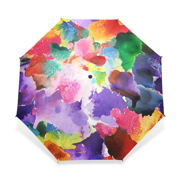 2018 Vintage Gorgeous Colorful Floral Pattern Umbrellas Women Rain Automatic Umbrella for Child Girl Gift Rain Gear Dropshipping