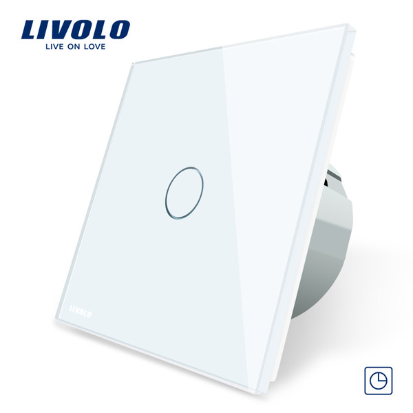Livolo EU Standard Timer Switch(30s delay), AC 220~250V, 3 Color Glass Panel, Light Touch Switch+LED Indicator,C701T-1/2/3/5