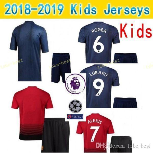 detailed look d3aad b2016 2018 Kids Man United Youth ALEXIS Jersey Set 2018 2019 Premier League  Soccer MATA YOUNG VALENCIA DE GEA GOALIE Football Shirt Children Kit Patch  From ...