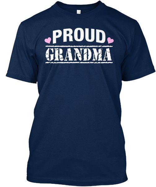 Proud Grandma T T-shirt Élégant T Shirt for Men Print Short Sleeve Crewneck Cotton 3XL Couple Prison Break Tshirts
