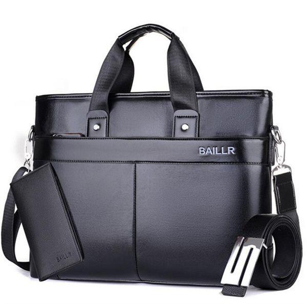 Business Men PU Leather Laptop Bag Casual Mens Messenger Office Bags Waterproof Male Handbag Briefcase Retro Travel Bags M191