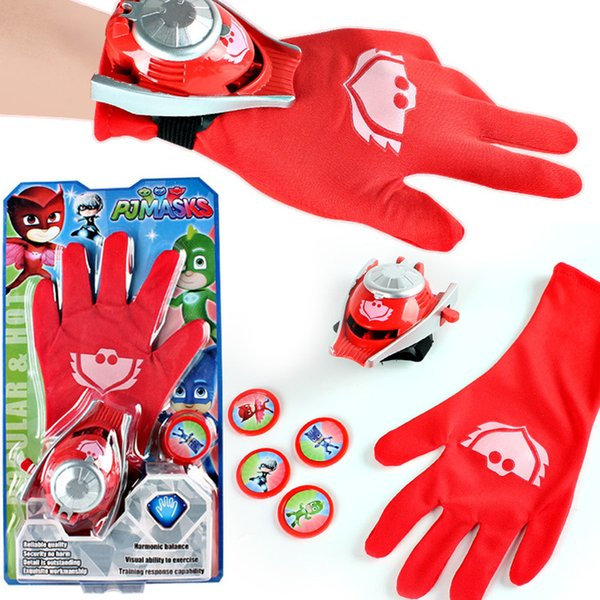INS HOT!New Halloween Gifts Kids Supermen Gloves Party Costume PJ MASKS Connor/Greg/Amaya Gloves for Boys Girls Pajamas Men Dress Up HD1