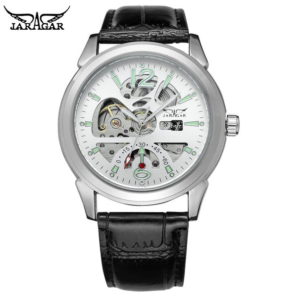 JARAGAR Top Brand Luxury Men Mechanical Watches Hot Selling Auto Date Wristwatch Men's Automatic Stainless Steel Band Watches