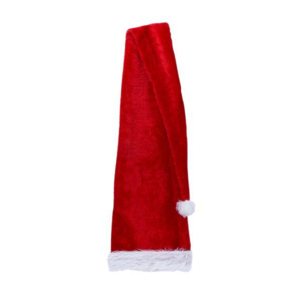 Christmas Party Santa Claus Red & White Long Hat Plush Cap Costume Adult Child Xmas Cap Hat Party Plush Christmas Decor