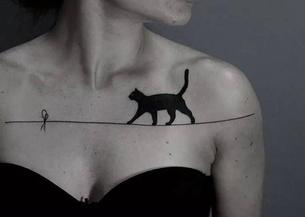 À Prova D 'Água Temporária Falso Tatuagem Adesivos Sexy Black Cats