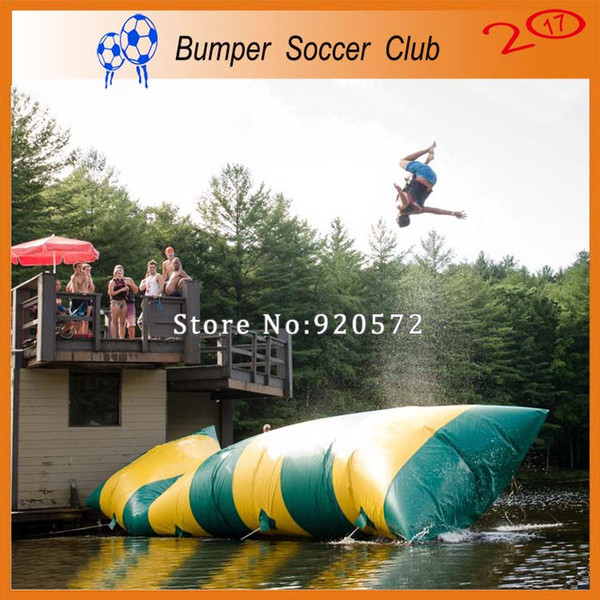 Free Shipping Free Pump 12*3m Inflatable Water Pillow Inflatable Water Blob Jump Bag Inflatable Trampoline