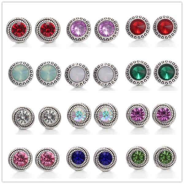 Noosa Chunks circle Rhinestone 12mm botones a presión para el botón a presión collar pulsera accesorios de la joyería