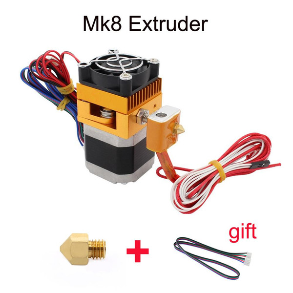 Upgrade MK8 Extruder J-head Hotend Nozzle 0.4mm Feed Inlet Diameter 1.75 Filament Extra Nozzle +1 meter motor cable for free