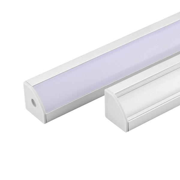 20 Medidor 10 set / lote levou perfil de alumínio para led barra de luz tira de alumínio canal de alumínio habitação