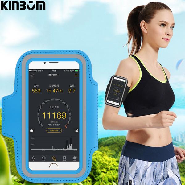 Телефон KINBOM повязку бег рука с телефон сумка универсальный водонепроницаемый Спорт мешок подходит для 5,5 дюйма мобильный телефон