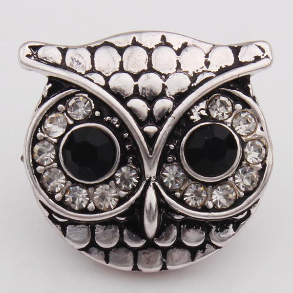 18mm NOOSA Ginger Snap Jewelry Owl Style Crystal Interchangeable Jewelry Accessories